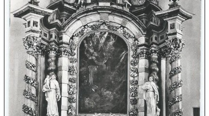 medernach altar 1959 carte photo jos thiefels